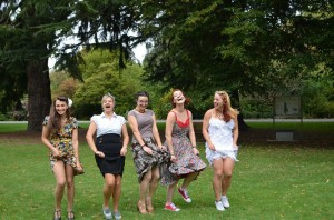 The girls take on hagley park