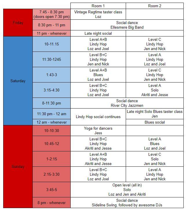 CSF schedule