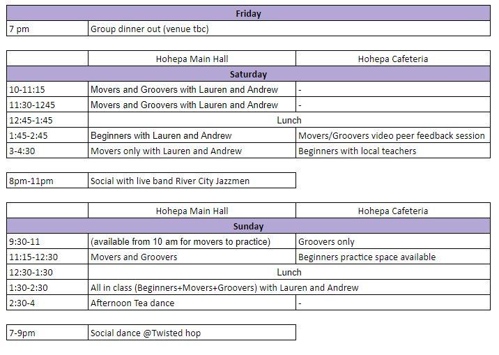 amazebal schedule